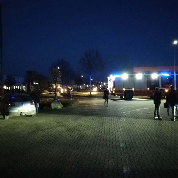 Feuerwehr auf dem Gelände der Ostegruppe