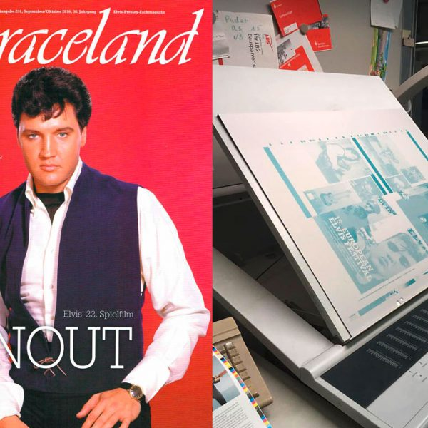 Titelbild der Zeitschrift Graceland mit Elvis Presley