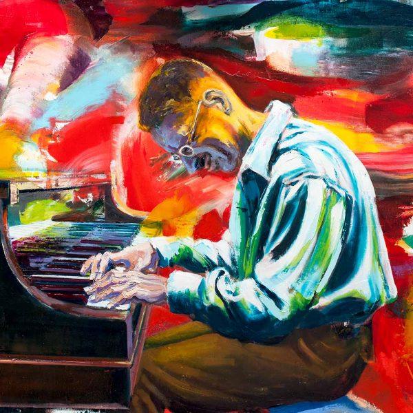Piano-Spieler am Klavier