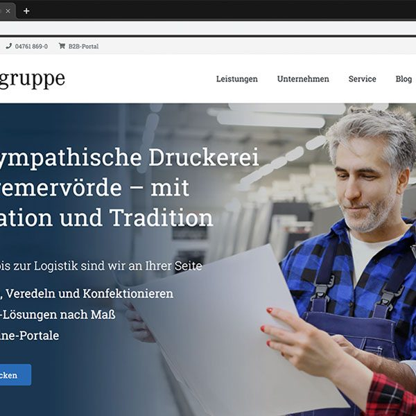 Screenshot der Website der Ostegruppe